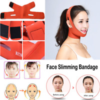 Nature facial thin face mask slimming bandage girdle shape lift reducing double