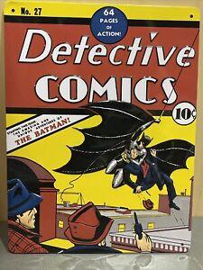 Detective Comics #27 Metal Tin Sign First Batman DC Home Garage Wall Decor #1967