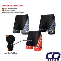 Didoo Men's New Cycling Padded Shorts 3D Anti-Bac Outdoor Cycle Bike Road Short