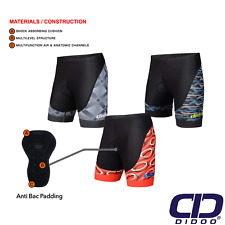 Didoo Men's New Cycling Padded Shorts 3D Anti-Bac Outdoor Cycle Bike Road Short