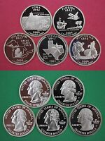 5 Clad 2004 S Proof Deep Cameo State Quarters Mirror Finish Combined Shipping