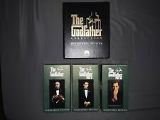 3 Vhs movie lot The Godfather Trilogy Box Set and Scarface and Goodfellas