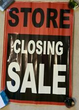 2 STORE CLOSING SALE window decal sign 24 x 36