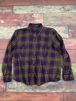 Ralph Lauren Womens Plaid Flannel Button Shirt Top Blouse Size Medium