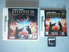 Star Wars Episode III La revanche des Sith Jeu Vidéo Nintendo DS