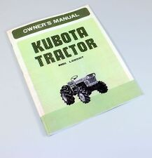KUBOTA L225DT TRACTOR OPERATORS OWNERS/PARTS MANUAL DIESEL 3CYL 4WD D1100-A