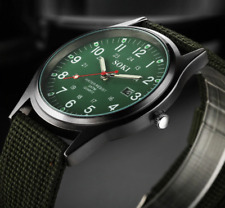 Men Military Army Green Analog Digital Quartz Nylon Canvas Wrist Watch Sport US