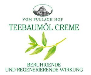 Pullach Hof Teebaumöl Creme D-Pantheno beruhigend Pickel Mitesser Akne 3x 250ml
