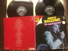 "JOHNNY HALLYDAY DOUBLE LP""24 SUPER SUCCESS"".1970s PHILIPS+GATEFOLD.1965-68TRACKS"