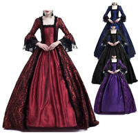 Medieval Women Victorian Princess Marie Antoinette Vintage Costume Dresses Retro