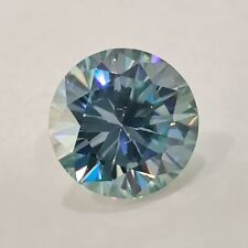 Round Cut Loose Moissanite Use For Ring Vs12 Clarity 0.82 Ct 6.28 Mm Light Blue