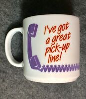 Rare Vintage Fedex Coffee Mug Federal Express Automatic Pick-up Line Phone TP