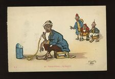 North Africa Visions d'Orient LE NARGHILE Smoking artist P Neri c1910/20s? PPC