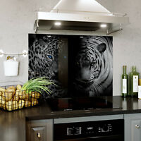 Glass Splashback Kitchen Tile Cooker Panel ANY SIZE Brown Wood Texture 0442