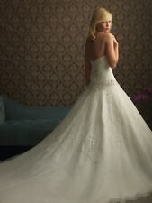 Authentic Allure Wedding Gown. Ivory/Silver. Size 14. Never Worn. Never Altered.