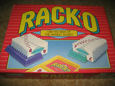 Rack-O Racko 1992 Parker Brothers traditional tabletop card/board game great sha