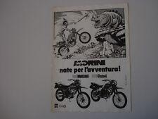 advertising Pubblicità 1983 MOTO MORINI KANGURO 350/CAMEL 500