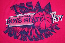 S / M * thin vtg 80s 1987 Tennessee Basketball Tourney t shirt * small medium