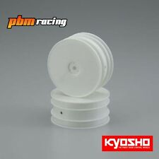 """Kyosho 1/10 4wd Front Buggy 12mm Hex Wheels White 2.2""""/2pcs - W5201W"""