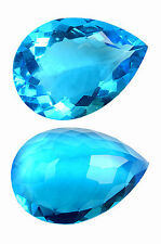 31,0 ct Hydro Blue Topaze - Portugese Pearshape - IF - India - Marvellous