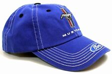 Ford Mustang Tri Bar Logo Licensed Cotton Blue Hat