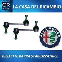 KIT 2  BIELLETTA TIRANTE BARRA STABILIZZATRICE ANTERIORE ALFA ROMEO 147-156-GT