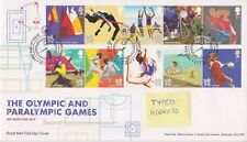 RUGBY PMK GB ROYAL MAIL FDC 2011 OLYMPIC & PARALYMPIC GAMES STAMP SET
