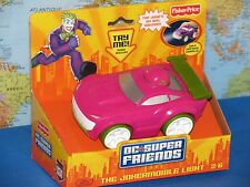 FISHER PRICE DC SUPER FRIENDS THE JOKER MOBILE LIGHT TALKING CAR **NEW & RARE**