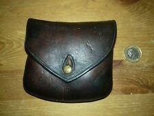 Brown Leather Pistol Ammo Pouch, From WWI or WWII.