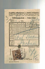 1942 Germany Dachau Concentration Camp money order Receipt KZ Carl tradan