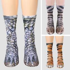 Kids Adult Animal Feet Socks Unisex Paw Crew Socks Sublimated Print Socks 1 Pair