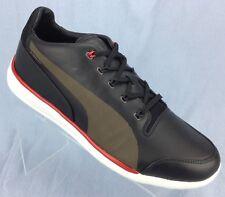 Puma Ferrari Titolo Everfit Moonless Night Black Leather Sneakers Mens shoes  11 127edec1d