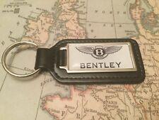 Bentley Qualità Nero Vera Pelle Portachiavi oblunghi Bianco continental gt mulsanne