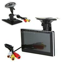 "4.3"" Color TFT LCD 12V Car Rearview Monitor for DVD Camera VCR Black I2Y2"
