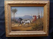 JOHANN FRIEDRICH W: WEGENER; 1812-1879 DRESDEN; ROMANTIKER ORIENT PFERDE;UM 1850