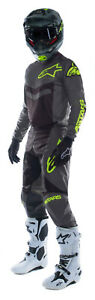 NEW ALPINESTARS 2021 FLUID SPEED RACE KIT DARK GREY YELLOW FLUO MX MOTOCROSS BMX