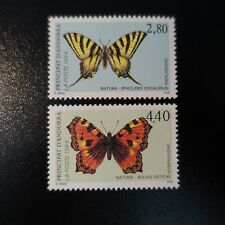 ANDORRA FRENCH N°451/452 BUTTERFLIES NEUF LUXE MNH