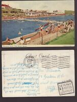 Great Britain POSTED UNPAID 4D TO PAY 1955 postcard