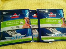 Lot of 3 Bissell Stomp 'N Go Pet Stain Lifting Pads + Oxy for Carpet/Upholstery