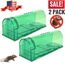 Set of 2 Humane Mouse Traps - Harmless Live Catch & Release Safe for People Pet
