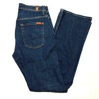 Men's 7 For All Mankind Brett Jeans Slim Bootcut Dark Wash Size 30 (30x33)