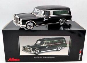 1:18 SCHUCO Mercedes-Benz 600 HEARSE FUNERAL CAR 1965 CARRO FUNEBRE black Model