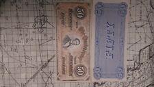 1864 Confederate States $50 FIFTY Bill paper money Civil War bankNote facsimile