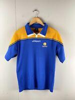 Uhlsport Men's Football Tasmania Short Sleeve Jersey Polo Shirt Size M Blue #15