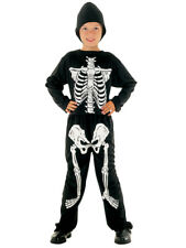 Child Skeleton Jumpsuit Costume Boys Kids Halloween Fancy Dress Outfit 3-10 Yrs