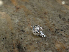 Fancy Sterling Silver 8mm round filagree Clasp