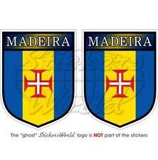 MADEIRA Ecusson PORTUGAIS Portugal 75mm Vinyle Sticker Autocollant x2