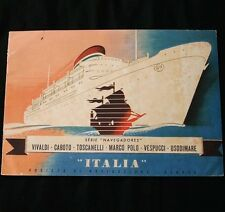 ITALIA ITALIAN LINE 6 Ship Brochure Booklet Portuguese