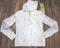Da-Nang Surplus Women's Sweater Sleeve Detail Zip-Up WHITE FTG10381538 MEDIUM M