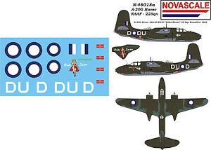 RAAF Decals A-20G Havoc Mini-Set 1/48 Scale N48018a
